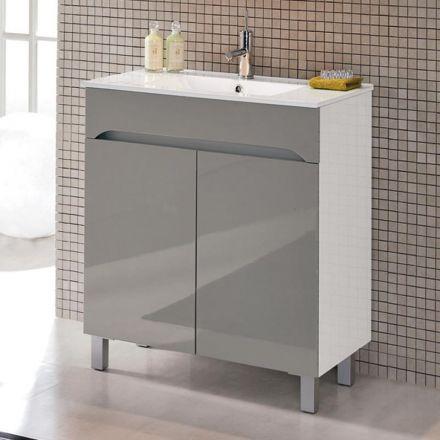 Meuble salle de bain 70 cm 2 portes benissa for Meuble 70 cm de large