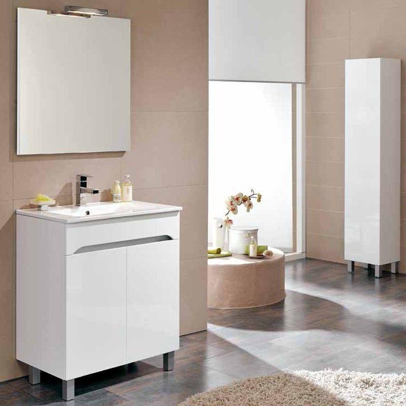Meuble salle de bain 70 cm 2 portes benissa for Meuble salle de bain 70 cm