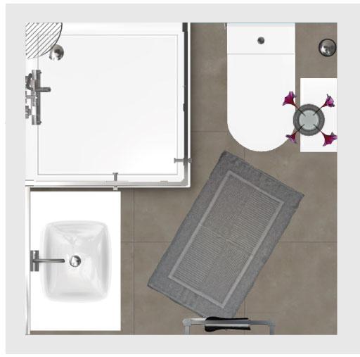 Salle de bain bathbox wc douche meuble 2 89 m2 for Prix m2 salle de bain