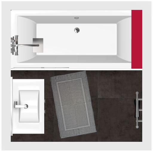 Salle de bain bathbox baignoire meuble 3 24 m2 for Salle de bain 4 m2