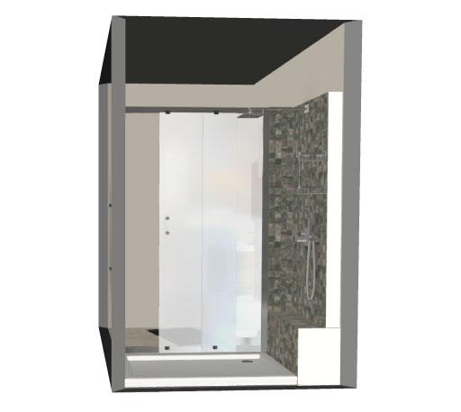 Salle de bain bathbox douche meuble wc suspendu 3 6 m2 for Prix m2 salle de bain