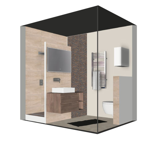 salle de bain bathbox meuble vasque siphon de sol 3 6 m2. Black Bedroom Furniture Sets. Home Design Ideas