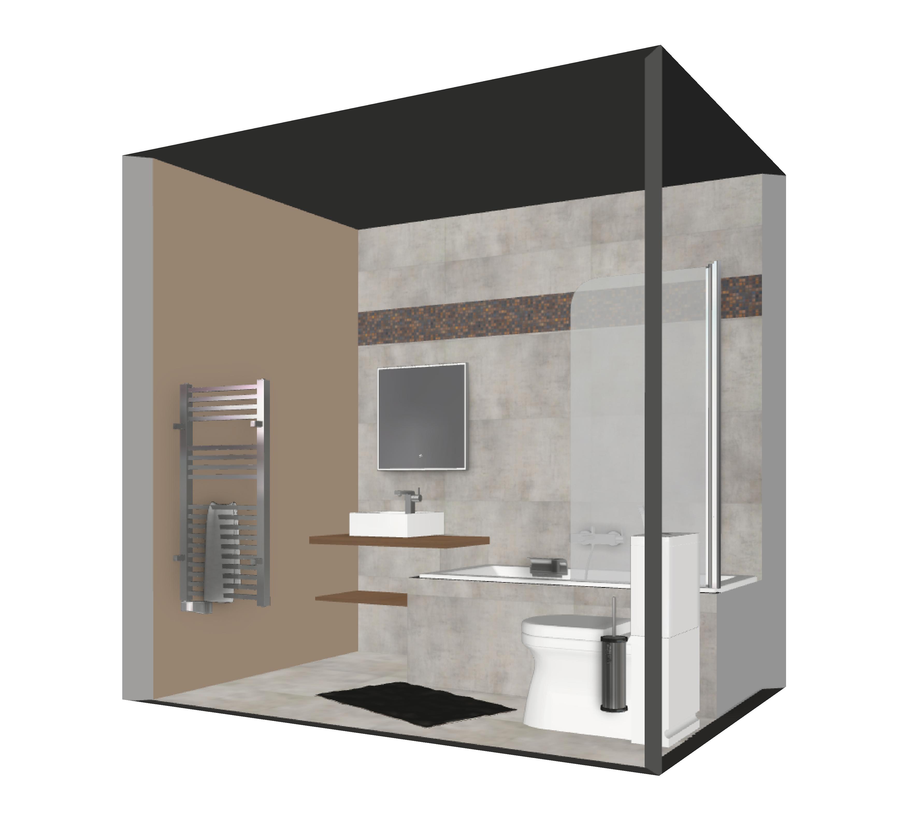 Salle de bain bathbox baignoire wc vasque 3 84 m2 for Prix salle de bain m2