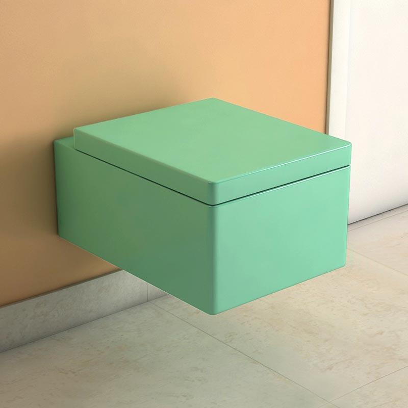WC suspendu Piana turquoise