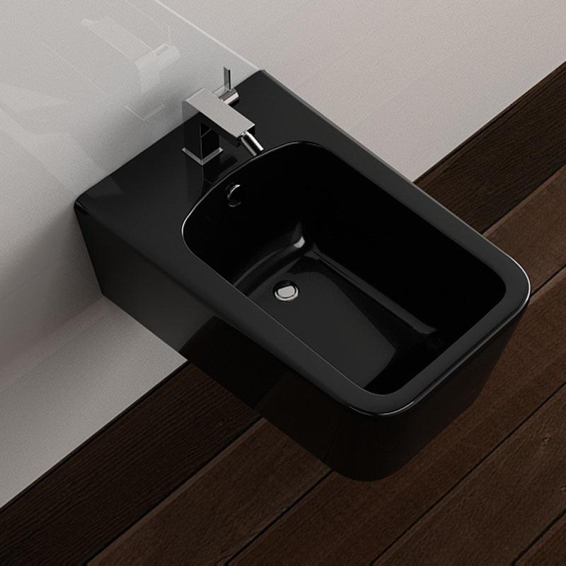 bidet suspendu tozza noir. Black Bedroom Furniture Sets. Home Design Ideas