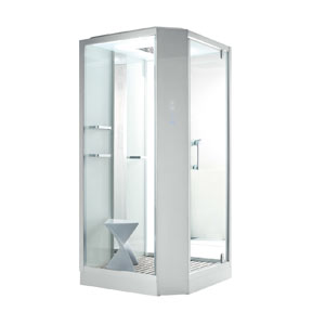 cabine de douche hammam flora 100 cm blanche. Black Bedroom Furniture Sets. Home Design Ideas