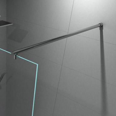Paroi de douche fixe o2 70 140 cm - Barre de stabilisation pour paroi de douche ...