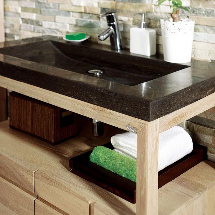 meuble salle de bain 100 cm natura. Black Bedroom Furniture Sets. Home Design Ideas