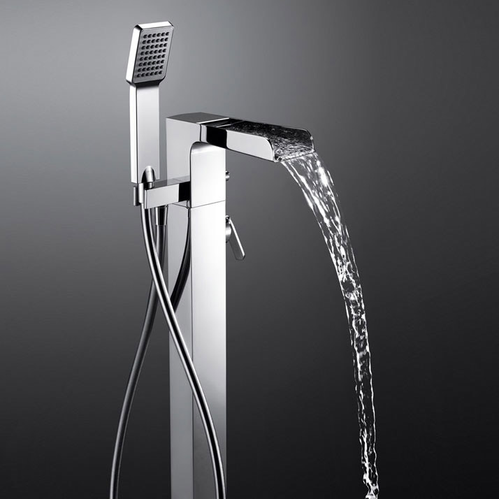 robinet mitigeur bain sol cascade. Black Bedroom Furniture Sets. Home Design Ideas