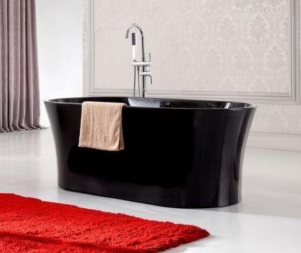 Salle de bain rouge blanc noir salle de bain compl te - Salle de bain rouge et noir ...
