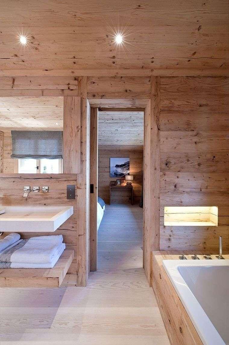 idée de salle de bain chalet montagne