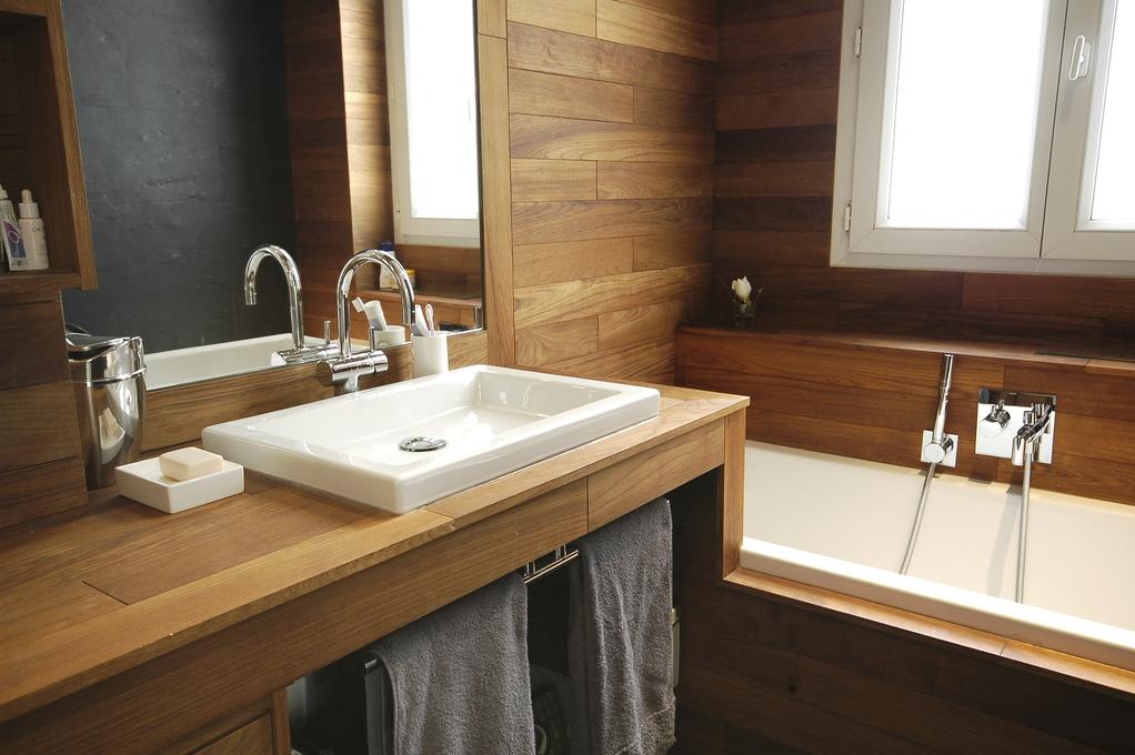 idée de salle de bain chalet