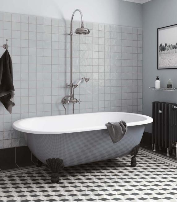 salle de bain retro vintage