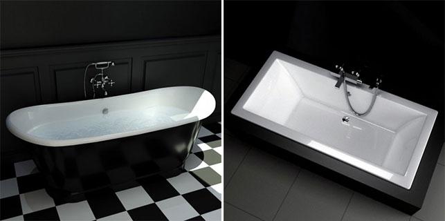 L 39 ambiance noire tendance - Baignoire de couleur ...