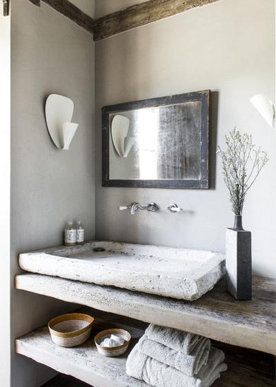 le style campagne dans la salle de bain. Black Bedroom Furniture Sets. Home Design Ideas