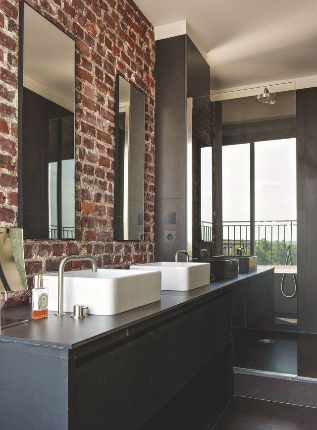 La salle de bain de style industriel for Materiaux salle de bain