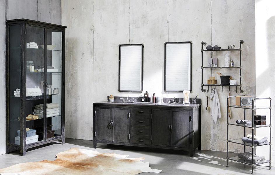 La salle de bain de style industriel for Meuble de salle de bain industriel