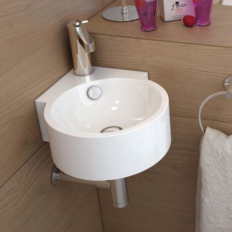 5 lave mains pour des toilettes originales - Lavabo d angle salle de bain ...