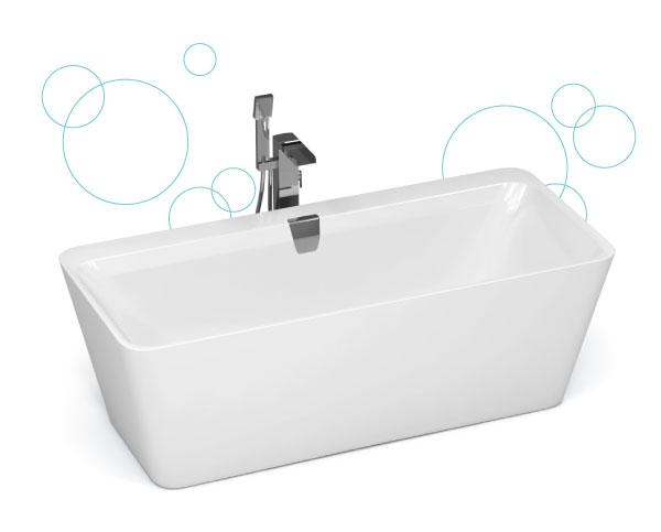 zoom sur la baignoire baln o sulana 180x80 cm. Black Bedroom Furniture Sets. Home Design Ideas