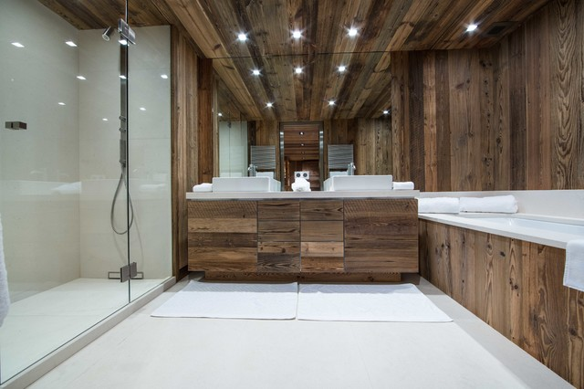 la salle de bain esprit chalet de montagne. Black Bedroom Furniture Sets. Home Design Ideas
