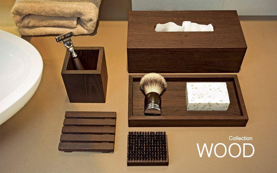 Les accessoires de salle de bain wood for Les accessoires salle de bain
