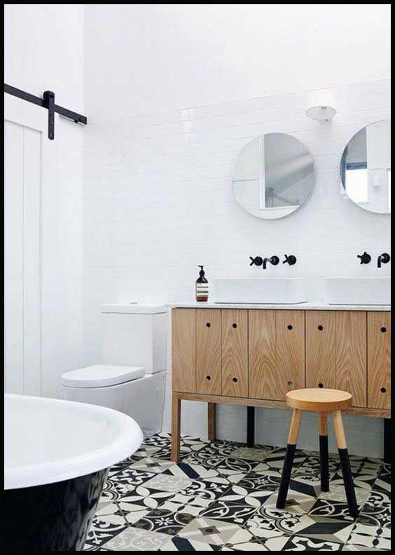 Univers contemporain scandinave naturel chic salle de bain for Salle de bain style nordique