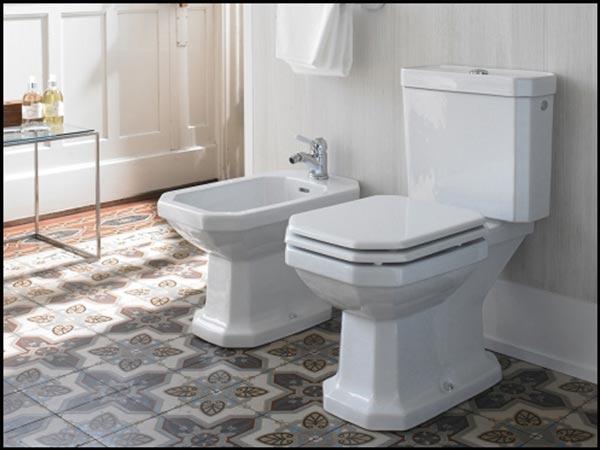 Univers retro dans la salle de bain for Duravit salle de bain