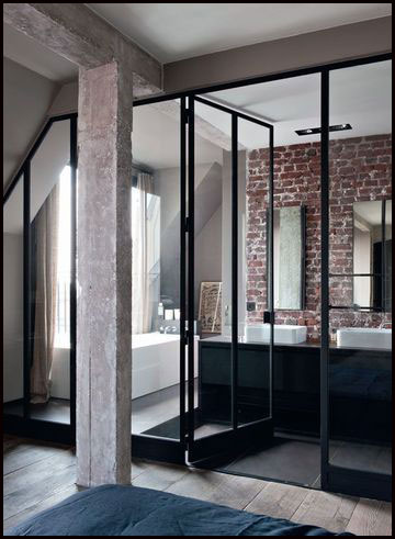 Le r tro atelier for Paroi vitree style atelier