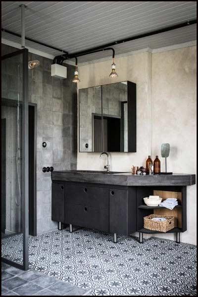 Le r tro atelier for Salle de bain style loft