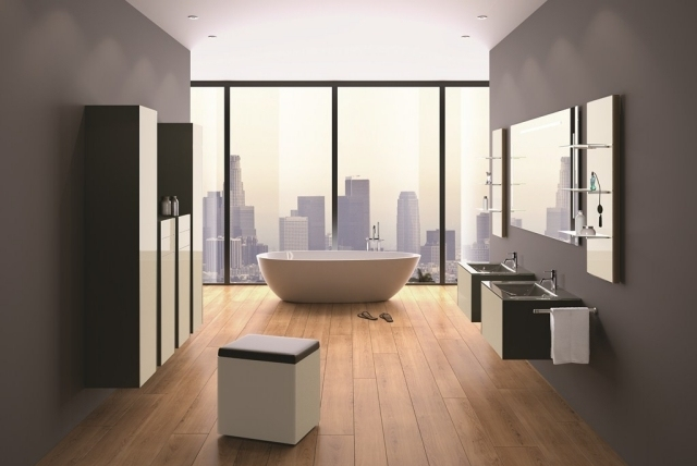 comment am nager une grande salle de bain. Black Bedroom Furniture Sets. Home Design Ideas