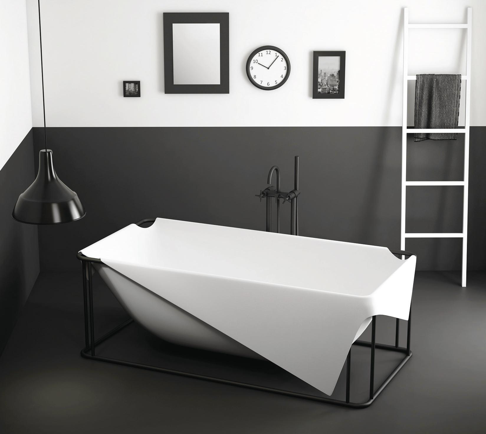 La r sine min rale solid surface dans la salle de bain - Salle de bain resine ...