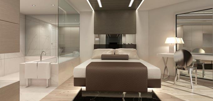La salle de bain dans la suite parentale for Suite parentale avec salle de bain et dressing de luxe