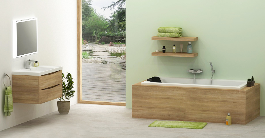 salle de bain zen et nature. Black Bedroom Furniture Sets. Home Design Ideas