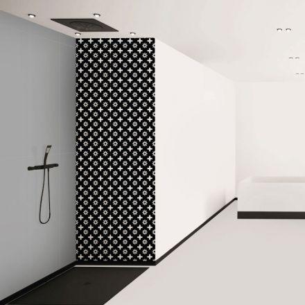 Couleurs Et Luminaires Dans Une Salle De Bain Noire Et Blanche