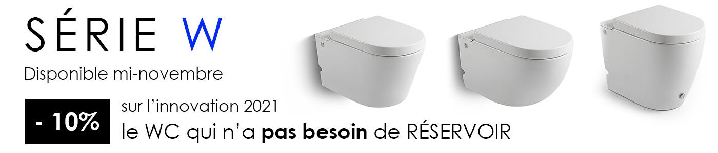 Série W - le WC qui n'a pas besoin de réservoir