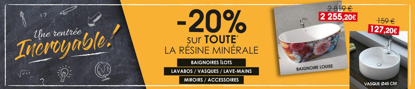 Promo resine minerale