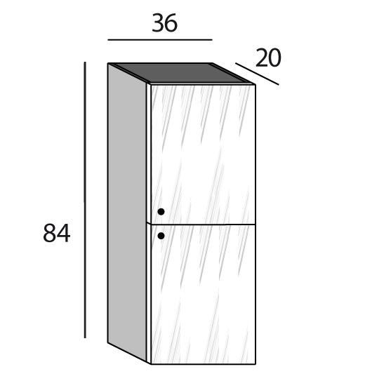 Compo one element haut bois 1 porte vitr e for Densite du verre a vitre