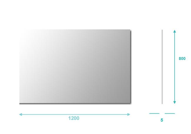 miroir salle de bain 120x80 cm basic