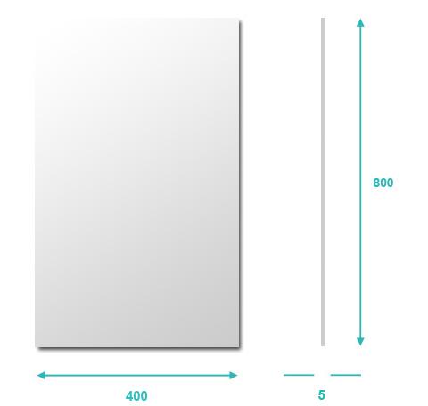 miroir salle de bain 40x80 cm glass. Black Bedroom Furniture Sets. Home Design Ideas