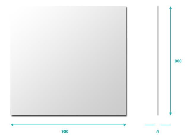 Miroir salle de bain 80x90 cm glass for Miroir 90 x 150