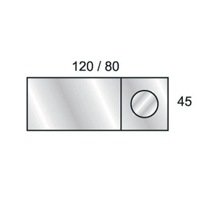 Miroir ego grossissant 1200x450 mm for Miroir 90x90