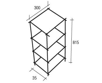 demi colonne couture : schéma technique