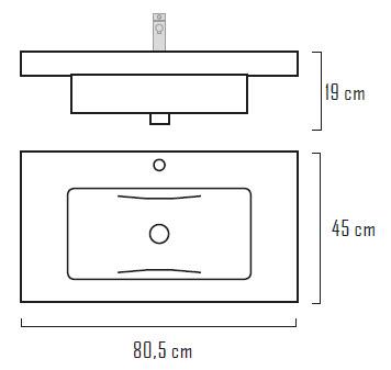 meuble salle de bain 80 cm plan vasque r sine 3 tiroirs star 2. Black Bedroom Furniture Sets. Home Design Ideas