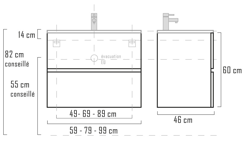 100 cm plan vasque - 100 Cm Plan Vasque