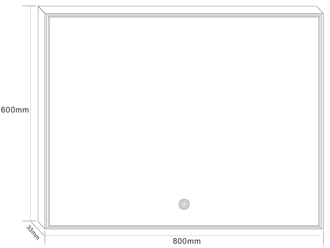miroir lumineux led salle de bain anti bu e 80x60 cm. Black Bedroom Furniture Sets. Home Design Ideas