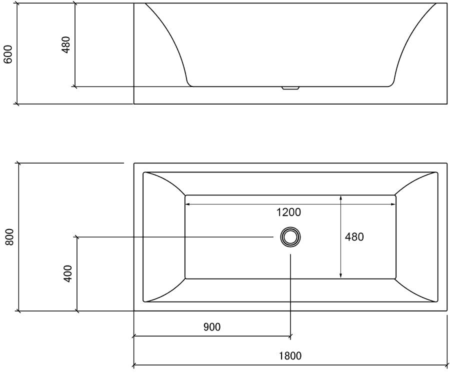 Hauteur de baignoire standard 20170703075725 for Dimension de baignoire standard
