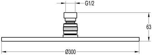 schéma technique douche de tête