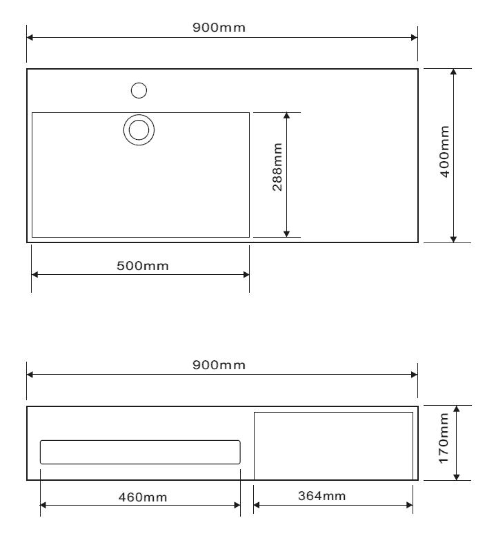 schéma meuble salle de bain minéral
