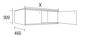 Meuble salle de bain bois vieilli 80 100 cm 2 portes femty for Meuble 80x30