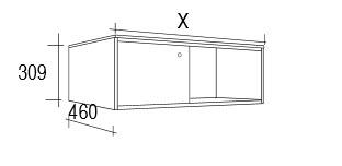 Meuble salle de bain 80 100 cm 2 portes coulissantes lyck for Meuble 80x30